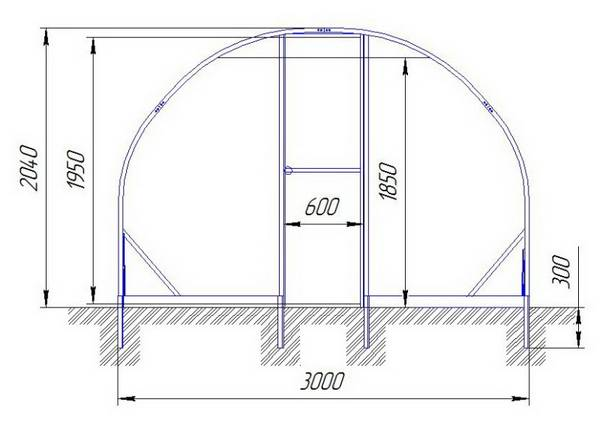 Как сделать теплицу из поликарбоната своими руками из профильной трубы 81